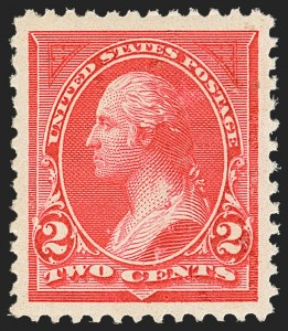 Sale Number 1163, Lot Number 185, 1894 Unwatermarked Bureau Issue (Scott 246-263)2c Carmine, Ty. I (250), 2c Carmine, Ty. I (250)