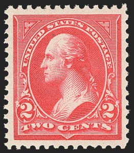 Sale Number 1163, Lot Number 187, 1894 Unwatermarked Bureau Issue (Scott 246-263)2c Carmine, Ty. III (252), 2c Carmine, Ty. III (252)