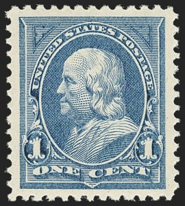 Sale Number 1163, Lot Number 199, 1895 Watermarked Bureau Issue (Scott 264-278)1c Blue (264), 1c Blue (264)