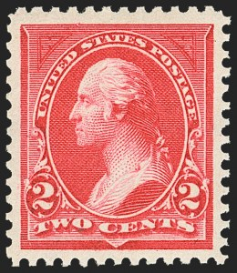 Sale Number 1163, Lot Number 200, 1895 Watermarked Bureau Issue (Scott 264-278)2c Carmine, Ty. I (265), 2c Carmine, Ty. I (265)