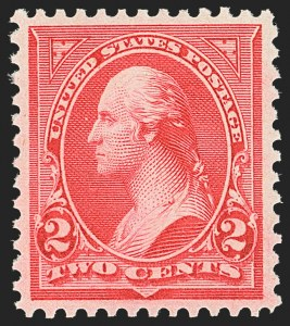 Sale Number 1163, Lot Number 202, 1895 Watermarked Bureau Issue (Scott 264-278)2c Carmine, Ty. III (267), 2c Carmine, Ty. III (267)
