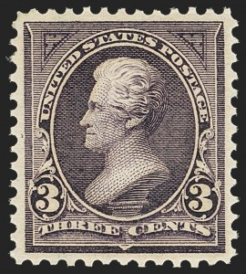 Sale Number 1163, Lot Number 203, 1895 Watermarked Bureau Issue (Scott 264-278)3c Purple (268), 3c Purple (268)