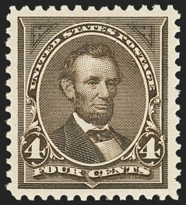 Sale Number 1163, Lot Number 204, 1895 Watermarked Bureau Issue (Scott 264-278)4c Dark Brown (269), 4c Dark Brown (269)