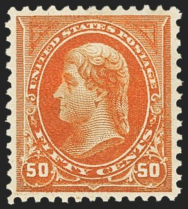 Sale Number 1163, Lot Number 208, 1895 Watermarked Bureau Issue (Scott 264-278)50c Orange (275), 50c Orange (275)