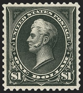 Sale Number 1163, Lot Number 209, 1895 Watermarked Bureau Issue (Scott 264-278)$1.00 Black, Ty. I (276), $1.00 Black, Ty. I (276)