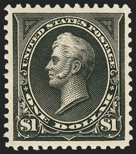 Sale Number 1163, Lot Number 210, 1895 Watermarked Bureau Issue (Scott 264-278)$1.00 Black, Ty. II (276A), $1.00 Black, Ty. II (276A)