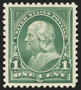 Sale Number 1163, Lot Number 213, 1897-1903 Change of Colors (Scott 279-284)1c Deep Green (279), 1c Deep Green (279)