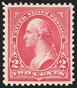 Sale Number 1163, Lot Number 214, 1897-1903 Change of Colors (Scott 279-284)2c Rose Carmine, Ty. III (279Bc), 2c Rose Carmine, Ty. III (279Bc)