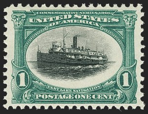 Sale Number 1163, Lot Number 225, 1901 Pan-American Issue (Scott 294-299)1c Pan-American (294), 1c Pan-American (294)
