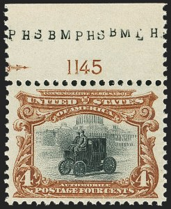 Sale Number 1163, Lot Number 227, 1901 Pan-American Issue (Scott 294-299)4c Pan-American (296), 4c Pan-American (296)