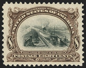 Sale Number 1163, Lot Number 229, 1901 Pan-American Issue (Scott 294-299)8c Pan-American (298), 8c Pan-American (298)