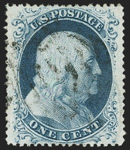 Sale Number 1163, Lot Number 23, 1857-60 Issue (Scott 19-39)1c Blue, Ty. IIIa (22), 1c Blue, Ty. IIIa (22)