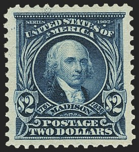 Sale Number 1163, Lot Number 240, 1902-08 Issues (Scott 300-320)$2.00 Dark Blue (312), $2.00 Dark Blue (312)