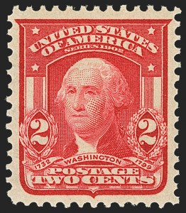 Sale Number 1163, Lot Number 244, 1902-08 Issues (Scott 300-320)2c Carmine, Ty. I (319), 2c Carmine, Ty. I (319)