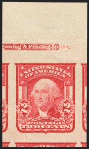 Sale Number 1163, Lot Number 246, 1902-08 Issues (Scott 300-320)2c Carmine, Ty. I, Imperforate (320), 2c Carmine, Ty. I, Imperforate (320)