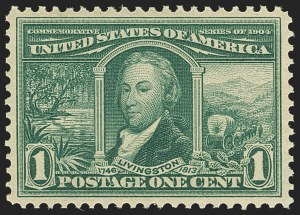 Sale Number 1163, Lot Number 248, 1904 Louisiana Purchase Issue (Scott 323-327)1c Louisiana Purchase (323), 1c Louisiana Purchase (323)
