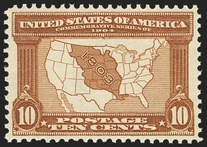 Sale Number 1163, Lot Number 251, 1904 Louisiana Purchase Issue (Scott 323-327)10c Louisiana Purchase (327), 10c Louisiana Purchase (327)