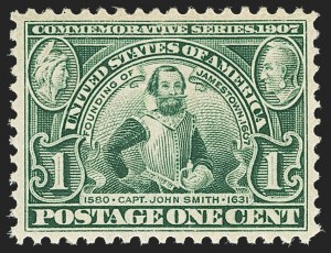 Sale Number 1163, Lot Number 252, 1907 Jamestown Issue (Scott 328-330)1c Jamestown (328), 1c Jamestown (328)