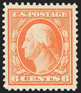 Sale Number 1163, Lot Number 257, 1908-10 Washington-Franklin Issues (Scott 331-356)6c Red Orange (336), 6c Red Orange (336)