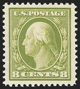 Sale Number 1163, Lot Number 258, 1908-10 Washington-Franklin Issues (Scott 331-356)8c Olive Green (337), 8c Olive Green (337)