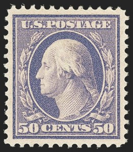 Sale Number 1163, Lot Number 262, 1908-10 Washington-Franklin Issues (Scott 331-356)50c Violet (341), 50c Violet (341)