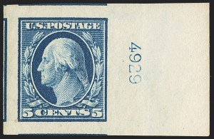 Sale Number 1163, Lot Number 264, 1908-10 Washington-Franklin Issues (Scott 331-356)1c-5c 1908-09 Issue, Imperforate (343-347), 1c-5c 1908-09 Issue, Imperforate (343-347)