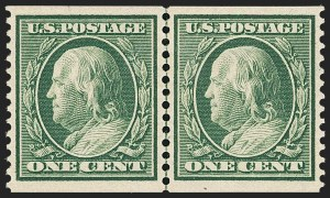 Sale Number 1163, Lot Number 269, 1908-10 Washington-Franklin Issues (Scott 331-356)1c Green, Coil (352), 1c Green, Coil (352)