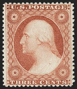 Sale Number 1163, Lot Number 27, 1857-60 Issue (Scott 19-39)3c Dull Red, Ty. III (26), 3c Dull Red, Ty. III (26)