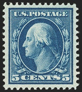 Sale Number 1163, Lot Number 285, 1910-13 Washington-Franklin Issue (Scott 374-396)5c Blue (378), 5c Blue (378)
