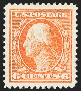 Sale Number 1163, Lot Number 286, 1910-13 Washington-Franklin Issue (Scott 374-396)6c Red Orange (379), 6c Red Orange (379)