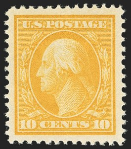 Sale Number 1163, Lot Number 288, 1910-13 Washington-Franklin Issue (Scott 374-396)10c Yellow (381), 10c Yellow (381)