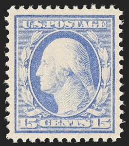 Sale Number 1163, Lot Number 289, 1910-13 Washington-Franklin Issue (Scott 374-396)15c Pale Ultramarine (382), 15c Pale Ultramarine (382)