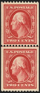 Sale Number 1163, Lot Number 291, 1910-13 Washington-Franklin Issue (Scott 374-396)2c Carmine, Coil (386), 2c Carmine, Coil (386)