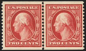 Sale Number 1163, Lot Number 293, 1910-13 Washington-Franklin Issue (Scott 374-396)2c Carmine, Coil (388), 2c Carmine, Coil (388)