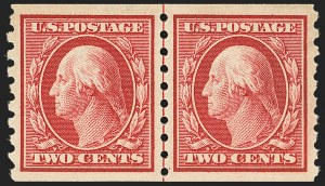 Sale Number 1163, Lot Number 297, 1910-13 Washington-Franklin Issue (Scott 374-396)2c Carmine, Coil (393), 2c Carmine, Coil (393)