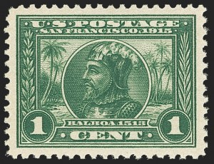 Sale Number 1163, Lot Number 301, 1913-15 Panama-Pacific Issue (Scott 397-404)1c Panama-Pacific (397), 1c Panama-Pacific (397)