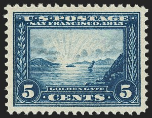 Sale Number 1163, Lot Number 303, 1913-15 Panama-Pacific Issue (Scott 397-404)5c Panama-Pacific (399), 5c Panama-Pacific (399)