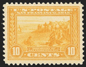 Sale Number 1163, Lot Number 304, 1913-15 Panama-Pacific Issue (Scott 397-404)10c Orange Yellow, Panama-Pacific (400), 10c Orange Yellow, Panama-Pacific (400)