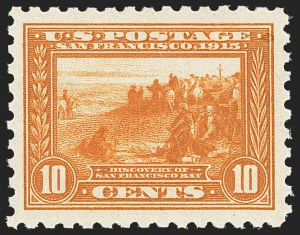 Sale Number 1163, Lot Number 307, 1913-15 Panama-Pacific Issue (Scott 397-404)10c Panama-Pacific, Perf 10 (404), 10c Panama-Pacific, Perf 10 (404)