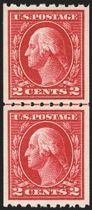 Sale Number 1163, Lot Number 310, 1912-14 Washington-Franklin Issue (Scott 405-423)1c Green, 2c Carmine, Coil (410-411), 1c Green, 2c Carmine, Coil (410-411)