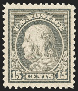 Sale Number 1163, Lot Number 317, 1912-14 Washington-Franklin Issue (Scott 405-423)15c Gray (418), 15c Gray (418)