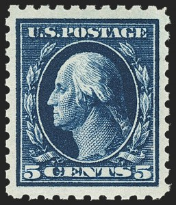 Sale Number 1163, Lot Number 325, 1913-15 Washington-Franklin Issues (Scott 424-440)5c Blue (428), 5c Blue (428)