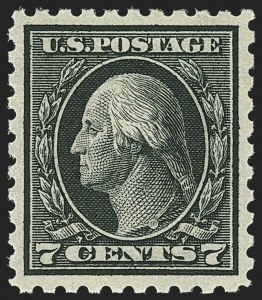 Sale Number 1163, Lot Number 327, 1913-15 Washington-Franklin Issues (Scott 424-440)7c Black (430), 7c Black (430)