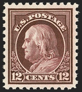 Sale Number 1163, Lot Number 332, 1913-15 Washington-Franklin Issues (Scott 424-440)12c Claret Brown (435), 12c Claret Brown (435)