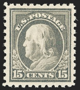 Sale Number 1163, Lot Number 334, 1913-15 Washington-Franklin Issues (Scott 424-440)15c Gray (437), 15c Gray (437)