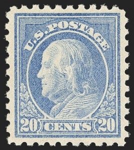 Sale Number 1163, Lot Number 335, 1913-15 Washington-Franklin Issues (Scott 424-440)20c Ultramarine (438), 20c Ultramarine (438)