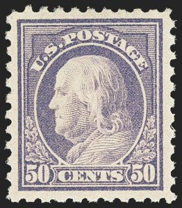 Sale Number 1163, Lot Number 337, 1913-15 Washington-Franklin Issues (Scott 424-440)50c Violet (440), 50c Violet (440)
