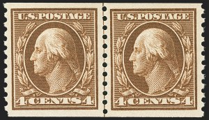 Sale Number 1163, Lot Number 342, 1913-15 Washington-Franklin Issues (Scott 441-461)4c Brown, Coil (446), 4c Brown, Coil (446)