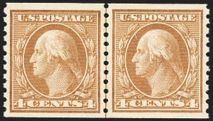Sale Number 1163, Lot Number 351, 1913-15 Washington-Franklin Issues (Scott 441-461)4c Brown, Coil (457), 4c Brown, Coil (457)