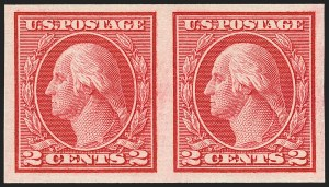 Sale Number 1163, Lot Number 353, 1913-15 Washington-Franklin Issues (Scott 441-461)2c Carmine, Ty. I, Imperforate Coil (459), 2c Carmine, Ty. I, Imperforate Coil (459)
